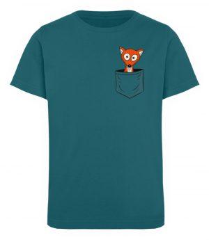 Fuchs in der Brusttasche | Taschen-Fuchs - Kinder Organic T-Shirt-6889