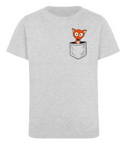 Fuchs in der Brusttasche   Taschen-Fuchs - Kinder Organic T-Shirt-6892