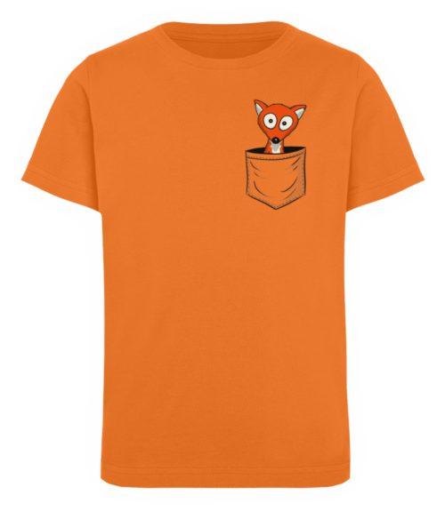 Fuchs in der Brusttasche   Taschen-Fuchs - Kinder Organic T-Shirt-6902