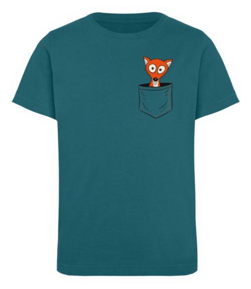 Fuchs in der Brusttasche   Taschen-Fuchs - Kinder Organic T-Shirt-6889