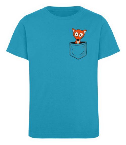 Fuchs in der Brusttasche   Taschen-Fuchs - Kinder Organic T-Shirt-6885