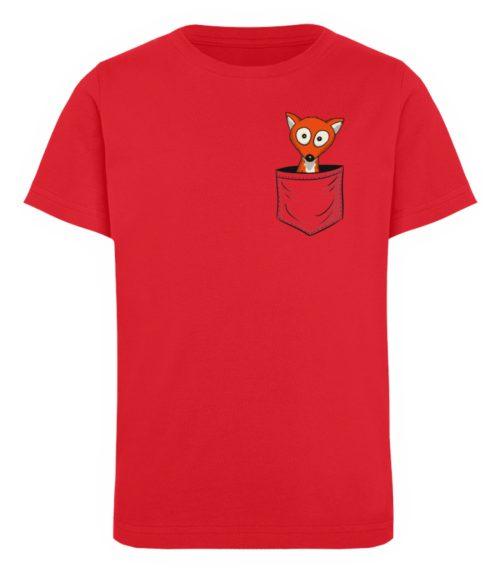 Fuchs in der Brusttasche   Taschen-Fuchs - Kinder Organic T-Shirt-6882