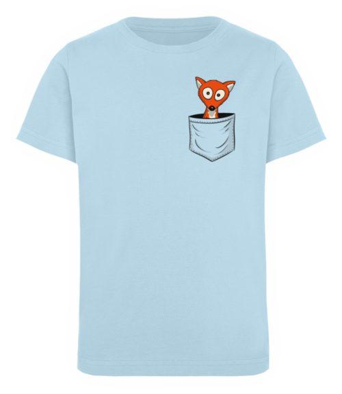 Fuchs in der Brusttasche   Taschen-Fuchs - Kinder Organic T-Shirt-6888