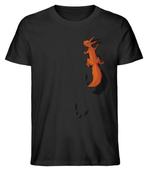 kletterndes Eichhörnchen mit Spuren - Herren Premium Organic Shirt-16