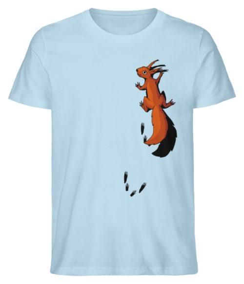 kletterndes Eichhörnchen mit Spuren - Herren Premium Organic Shirt-6888