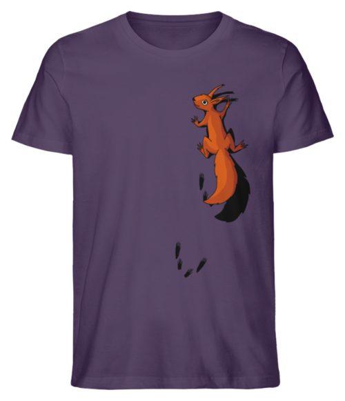 kletterndes Eichhörnchen mit Spuren - Herren Premium Organic Shirt-6884