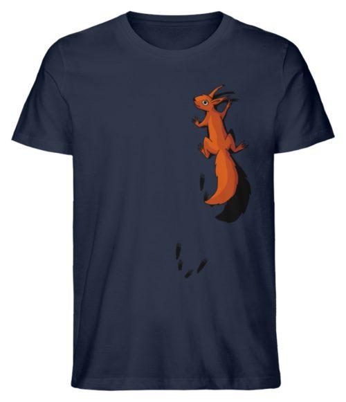 kletterndes Eichhörnchen mit Spuren - Herren Premium Organic Shirt-6887