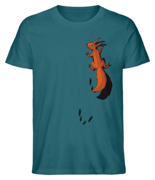 kletterndes Eichhörnchen mit Spuren - Herren Premium Organic Shirt-6889