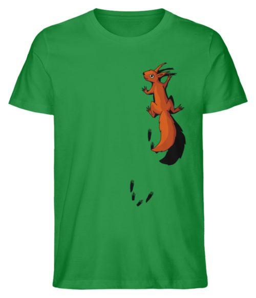 kletterndes Eichhörnchen mit Spuren - Herren Premium Organic Shirt-6890