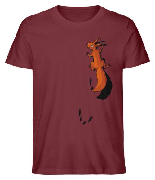 kletterndes Eichhörnchen mit Spuren - Herren Premium Organic Shirt-6883