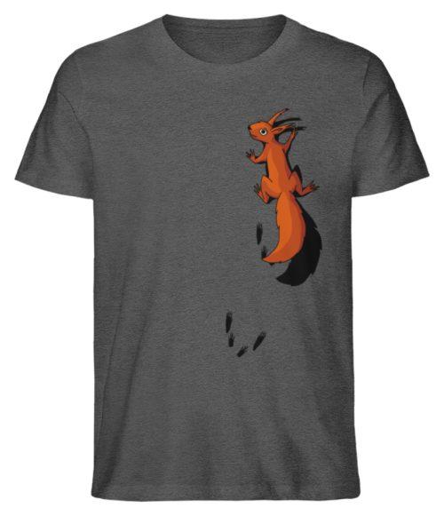 kletterndes Eichhörnchen mit Spuren - Herren Premium Organic Shirt-6898