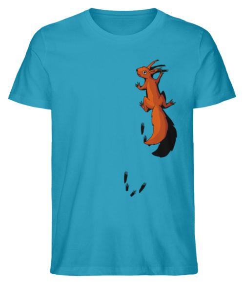 kletterndes Eichhörnchen mit Spuren - Herren Premium Organic Shirt-6885