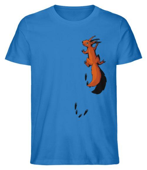 kletterndes Eichhörnchen mit Spuren - Herren Premium Organic Shirt-6886
