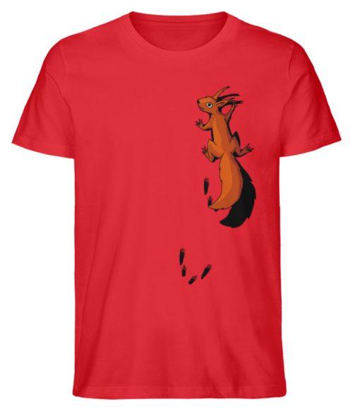 kletterndes Eichhörnchen mit Spuren - Herren Premium Organic Shirt-6882