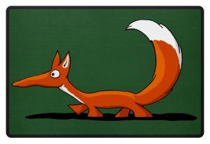 Lässiger cooler Fuchs | Mr. Fox, der Schleicher - Fußmatte-833