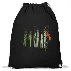 Eichhörnchen im Zwielicht-Wald - Baumwoll Gymsac-16