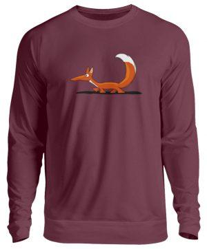 Lässiger cooler Fuchs | Mr. Fox, der Schleicher - Unisex Pullover-839