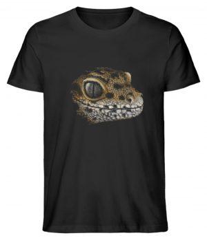 Leopard Gecko Skizze Kritzel-Kunst - Herren Premium Organic Shirt-16