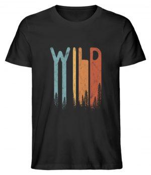 Wild Retro wilder Wald Schriftzug - Herren Premium Organic Shirt-16