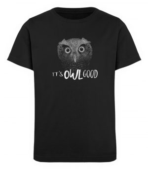 It-s OWL Good | Kritzel-Kunst-Eule - Kinder Organic T-Shirt-16