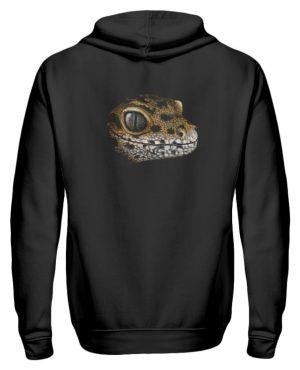 Leopard Gecko Skizze Kritzel-Kunst - Zip-Hoodie-16