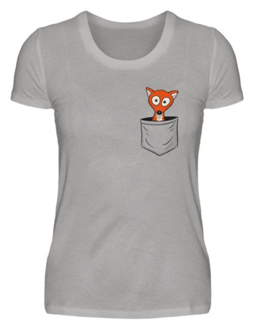Fuchs in der Brusttasche | Taschen-Fuchs - Damen Premiumshirt-2998