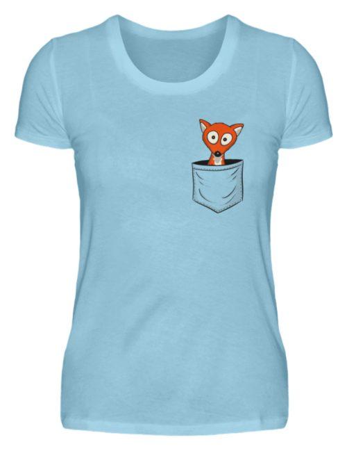 Fuchs in der Brusttasche | Taschen-Fuchs - Damen Premiumshirt-674