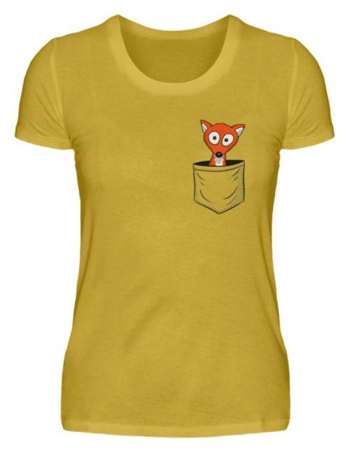 Fuchs in der Brusttasche | Taschen-Fuchs - Damen Premiumshirt-2980