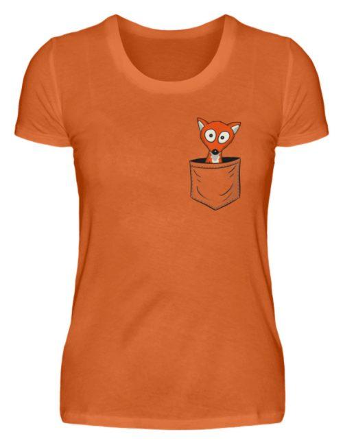 Fuchs in der Brusttasche | Taschen-Fuchs - Damen Premiumshirt-2953