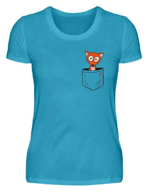 Fuchs in der Brusttasche | Taschen-Fuchs - Damen Premiumshirt-3175