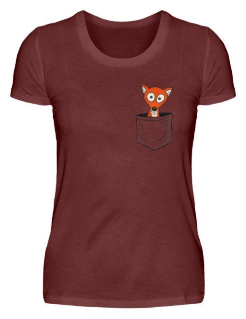 Fuchs in der Brusttasche | Taschen-Fuchs - Damen Premiumshirt-3192