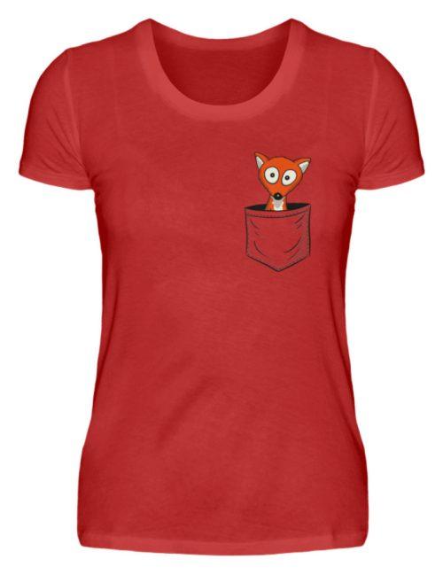 Fuchs in der Brusttasche | Taschen-Fuchs - Damen Premiumshirt-4