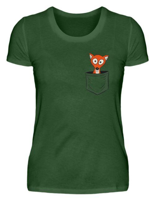 Fuchs in der Brusttasche | Taschen-Fuchs - Damen Premiumshirt-2936