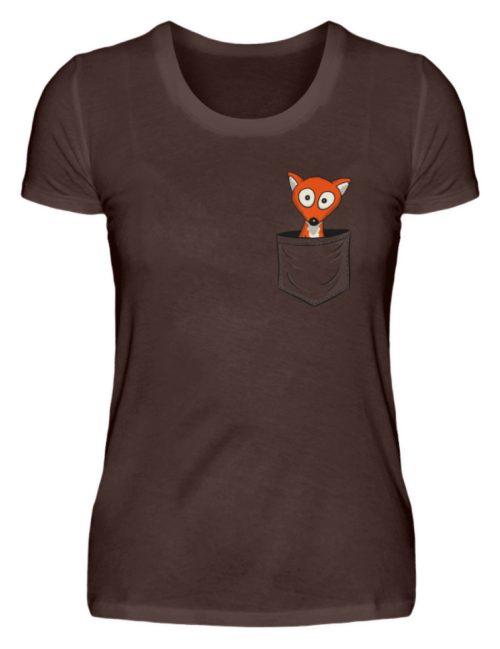 Fuchs in der Brusttasche | Taschen-Fuchs - Damen Premiumshirt-1074