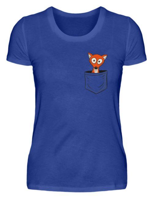 Fuchs in der Brusttasche | Taschen-Fuchs - Damen Premiumshirt-27