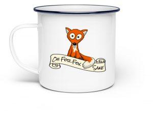 Oh For Fox Sake | Fuchs Wortspiel Tasse - Emaille Tasse-3