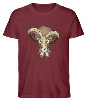 Bockiges Mufflon Widder Schafbock - Herren Premium Organic Shirt-6883
