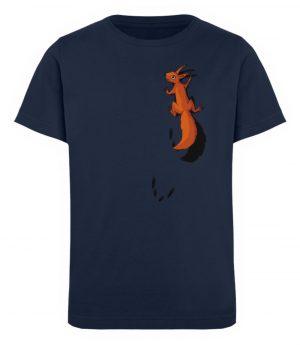 kletterndes Eichhörnchen mit Spuren - Kinder Organic T-Shirt-6887