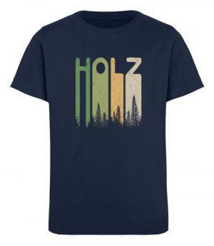 Retro Style Holz | Holziger Wald - Kinder Organic T-Shirt-6887