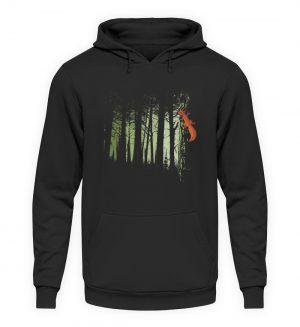 Eichhörnchen im Zwielicht-Wald - Unisex Kapuzenpullover Hoodie-1624