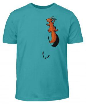 kletterndes Eichhörnchen mit Spuren - Kinder T-Shirt-1242