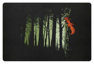 Eichhörnchen im Zwielicht-Wald - Fußmatte-16