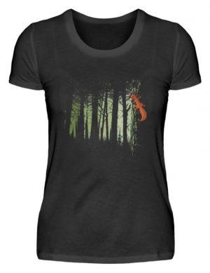 Eichhörnchen im Zwielicht-Wald - Damen Premiumshirt-16