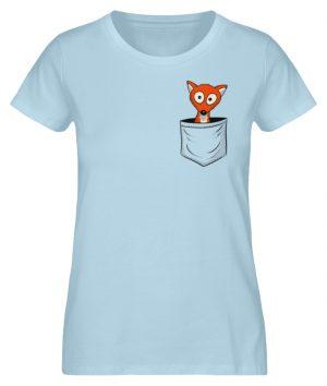 Fuchs in der Brusttasche | Taschen-Fuchs - Damen Premium Organic Shirt-6888