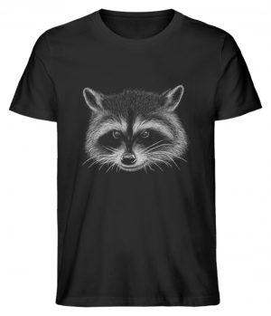 Coole freche Waschbär Illustration - Herren Premium Organic Shirt-16