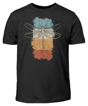 Retro Kunst Libelle | Vintage Dragonfly - Kinder T-Shirt-16