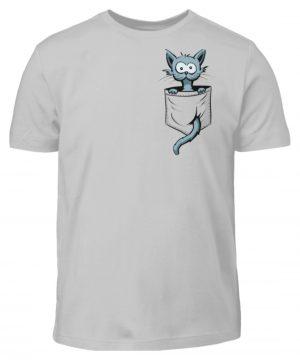 Verrückte Katze in Deiner Brust-Tasche - Kinder T-Shirt-1157