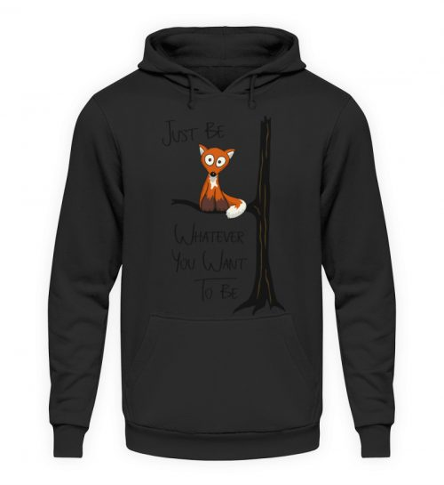 Just Be Whatever | Fuchs wie Eule - Unisex Kapuzenpullover Hoodie-1624
