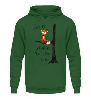 Just Be Whatever | Fuchs wie Eule - Unisex Kapuzenpullover Hoodie-833
