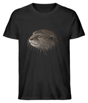 Otter Bleistift Zeichnung Kritzel-Kunst - Herren Premium Organic Shirt-16